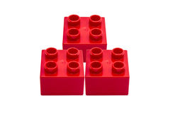 Red building blocks Royalty Free Stock Photo