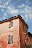 Red Building in Caorle Royalty Free Stock Photography