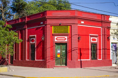 Red building facade. Red colored building facade in Argentina Royalty Free Stock Photography