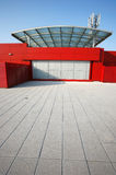 Red building perspective Royalty Free Stock Images