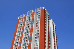 Red building under the blue sky Stock Photography
