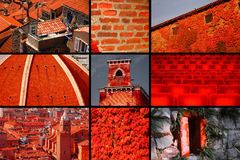 Red in buildings Royalty Free Stock Photo