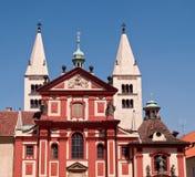 Red buildings in Prague Stock Photos