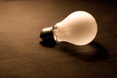 Red bulb. Royalty Free Stock Photography