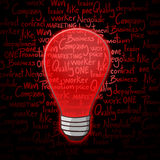 Red bulb Stock Photography