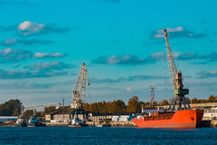 Red bulk carrier Royalty Free Stock Photo