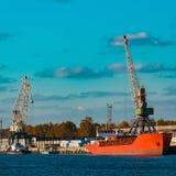 Red bulk carrier Stock Images