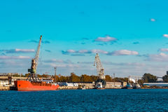 Red bulk carrier Royalty Free Stock Photos
