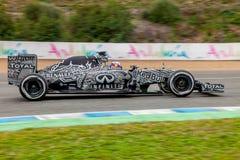 Red Bull Ściga się F1 Drużynowego, Daniel Ricciardo, 2015 Zdjęcie Royalty Free