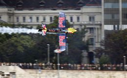 Red Bull Air Race. BUDAPEST - AUGUST 18: An unidentified light air craft in training for Red Bull Air Race competition August 18, 2009 in Budapest, Hungary Stock Photo