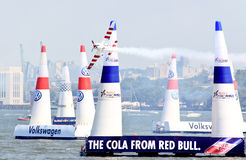 Red Bull Air Race at New York Harbor Royalty Free Stock Images