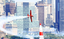Red Bull Air Race at New York Harbor Royalty Free Stock Photo
