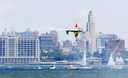 Red Bull Air Race at New York Harbor Royalty Free Stock Image