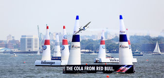 Red Bull Air Race at New York Harbor Royalty Free Stock Photography