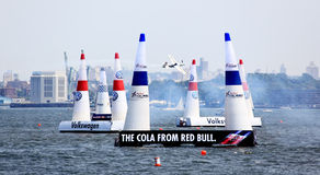 Red Bull Air Race at New York Harbor Stock Photography