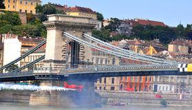 Red Bull air race- Qualifying Review Budapest 2009 Royalty Free Stock Photography