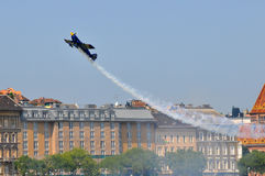 Red Bull air race- Qualifying Review Budapest 2009 Stock Images