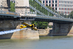 Red Bull air race- Qualifying Review Budapest 2009 Stock Image