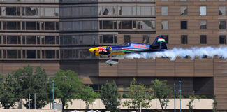 Red Bull air race- Qualifying Review Budapest 2009 Royalty Free Stock Image