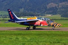Red Bull Alpha Jet Royalty Free Stock Images