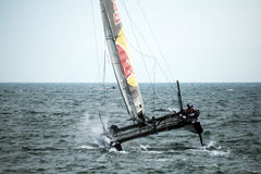 Red bull catamaran Stock Photography