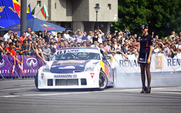 Red Bull Champions Parade on the streets of Kyiv Royalty Free Stock Image