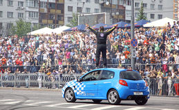 Red Bull Champions Parade on the streets of Kyiv Stock Images