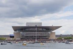 Red Bull Cliff Diving Copenhagen, Danimarca Immagine Stock