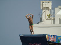 Red Bull Cliff Diving Polignano eine Stute 2017 Stockbilder