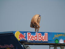 Red Bull Cliff Diving Polignano eine Stute 2017 Stockfotos