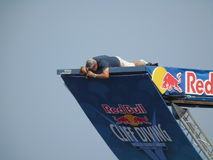 Red Bull Cliff Diving Polignano a Mare 2017 Royalty Free Stock Photography