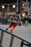 Red Bull Crashed Ice competition Royalty Free Stock Images