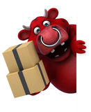 Red bull - 3D Illustration Stock Image