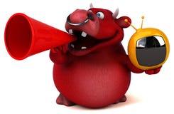 Red bull - 3D Illustration Royalty Free Stock Image