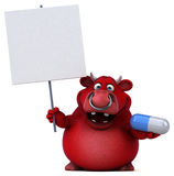 Red bull - 3D Illustration Stock Photos