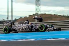 Red Bull, das F1 Team, Daniel Ricciardo, 2015 läuft lizenzfreie stockfotos
