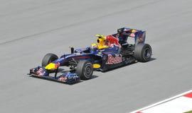 Red Bull dat bestuurdersTeken Webber rent royalty-vrije stock foto