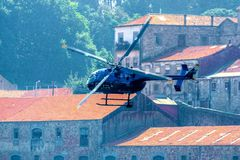 Red Bull-de Helikopter van TV Royalty-vrije Stock Foto