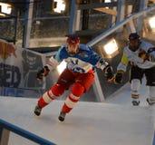 Red Bull deixou de funcionar a competição do gelo Foto de Stock