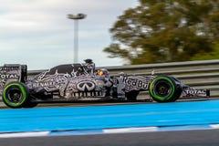 Red Bull emballant F1 l'équipe, Daniel Ricciardo, 2015 Photos stock