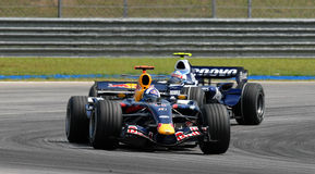 Red Bull emballant RB3 David Coulthard F britannique le 1er septembre Photo stock
