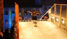 Red Bull est tombé en panne la glace Image libre de droits