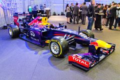 Red Bull F1 Q100 Race Car Display on May 23 2014 in Hong Kong. Stock Photo
