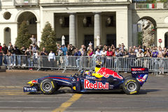 Mark Webber and Red Bull F1 Stock Image