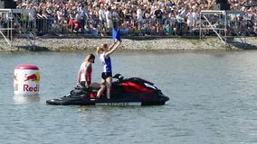 Red Bull Flugtag day 26.07.2015 in Moscow. stock footage
