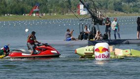 Red Bull Flugtag day 26.07.2015 in Moscow. stock video