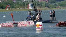 Red Bull Flugtag day 26.07.2015 in Moscow. stock video footage