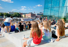 Red Bull Flugtag event in Oslo, Norway. August 2015 Royalty Free Stock Photos