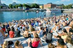 Red Bull Flugtag händelse i Oslo, Norge Augusti 2015 Arkivfoton