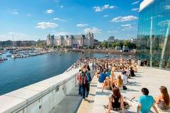 Red Bull Flugtag händelse i Oslo, Norge Augusti 2015 Arkivbild